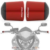 Peso Guidao Moto Universal Racing Vermelho Longo Evolution