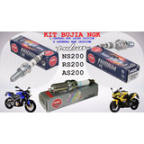 Kit Bujia Ngk Iridium Pulsar Ns200 Rs200 As200 Bajaj Ngk @tv