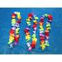 Kit C/ 60 Colar Havaiano Tecido Simples - Festa, Balada