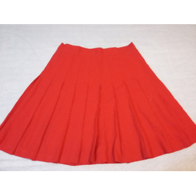 Falda Ivonne Tableada Color Rojo Talla 11-12.