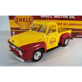 Pickup Ford F100 1953 Y Bomba De Gasolina Esc1:18 Greenlight