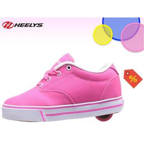 Heelys Launch Zapatos Tenis Rosa Con Rueda Patines Niña