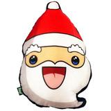 Almofada De Natal Cabeça De Papai Noel Em Pelúcia Super Soft