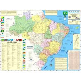 Mapas Do Brasil Ou Mundo (mundi) 120x90cm - Frete R$ 10,00