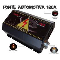 Fonte Automotiva Sound Force 120 A Voltímetro Digital