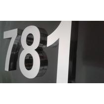 Letras Números 20 Cm Inox Residencial Corte Laser Algarismos