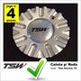4 Calotas Tampa Centro De Roda Tsw Devine Aro 19 C/ Emblema