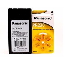 60 Pilha Bateria Aparelho Auditivo - Panasonic Pr 10 / 230