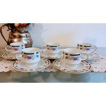 Juego 5 Tazas Para Café Porcelana Tsuji En Relieve