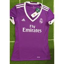Jersey Del Real Madrid 2017 Morado Para Dama Original.