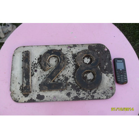 Antiguo Número Indicador Kilometro Poste Telegrafo Ferrrocar