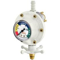 Válvula Registro Vergas P/ Botijão De Gás C/ Medidor Pressão