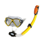 Set De Buceo Intex Careta Aviator Y Snorkel Con Rompeolas
