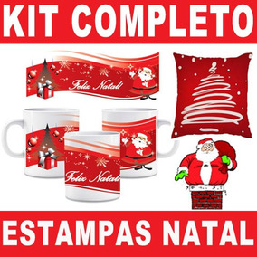 Kit Completo Estampas Natal Artes Prontas