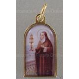 10 Medallas Dijes Santa Clara 2,5cm Religiosa