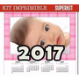 Kit Imprimible Calendarios 2017 Almanaques Cupcakes Y Mas!