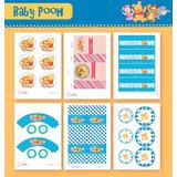 Kit Para Imprimir Cotillón Completo De Winnie Pooh