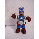 The Simpsons Figuras Parodias Capitan America