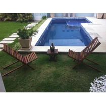 Cadeira De Praia, Piscina, Jardim E Varanda Em Madeira