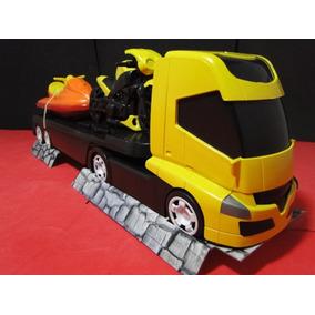 Caminhão Prancha 02 Eixos Comp=48cm Larg=09cm Alt=13cm
