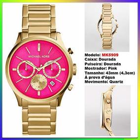 3463835a25540 Relogio Michael Kors Mk5890 Rosa Pink Novo Original - Relógio ...