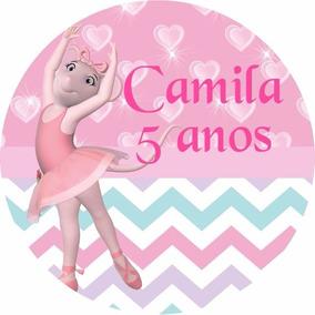30 Und Adesivo Angelina Bailarina Lembrancinha Latinha Festa