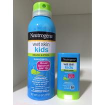 Protetor Solar Neutrogena Kids Spray Mais Bastao Fps70 Kit