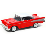 Chevrolet Bel Air 1957 Escala 1:24 Motor Max Rojo