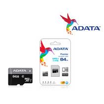 Memoria Micro Sdhc Adata 64gb Uhs-i C/adaptador