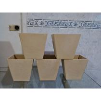 Macetas De Fibrofacil De 10x10 X 10 Unidades