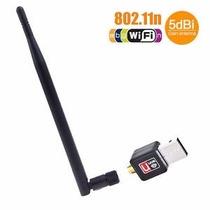 Adaptador Mini Receptor Wireless Usb Wi-fi 300mbps Ant 5dbi