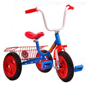 Triciclo Infantil A Pedal Caño Reforzado Rdas Macizas Goma