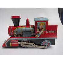 Brinquedo - Antiga Locomotiva De Lata A Pilha Daiya Japão