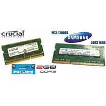 Memoria Ram Ddr3 2gb Laptop 1600mhz Compatible 1333mhz