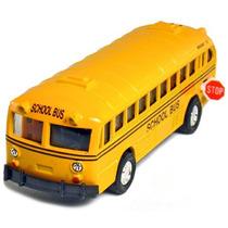 Conjunto De 12 Fundición De 5 \clásico Autobús Escolar, Tir