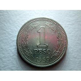 Moneda 1 Peso Argentina 1959 Republica Libertad Boedo Caba