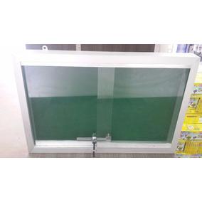 Quadro De Aviso Feltro Vidro Aluminio Com Tranca 40x60 Lider