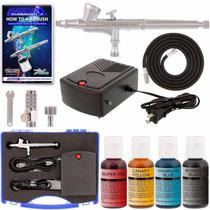 Kit Aerografo Con Compresor Para Decorar Pasteles Master Nb