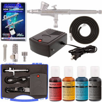 Kit Aerografo Con Compresor Para Decorara Pasteles Master Nb