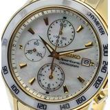 Reloj Seiko Ceramica Nacar Zafiro Cronografo Sportura Gtia
