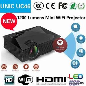 Mini Projetor Led Uc46 Wifi Unic Portatil Hdmi 1200 Lumens