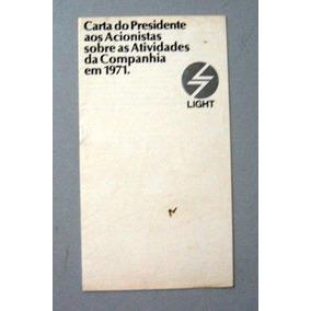 Antigo Livreto Da Companhia Light - 1971