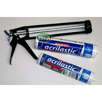 Envio Gratis Kit Pistola De Calafateo + 2 Tubos Silicon 300m