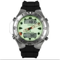 Relógio Citizen Aqualand Jp1060 Fundo Verde Em 12x S/juros