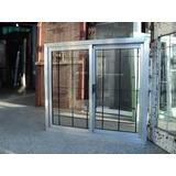 Ventana 150x110 Aluminio Natural Con Reja Del 10