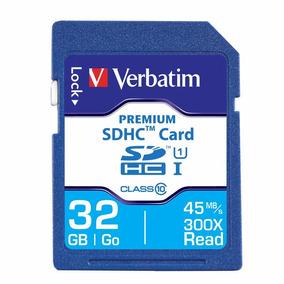 Memoria Sd Hc 32 Gb Verbatim Clase 10 Camaras 96871