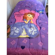Juego De Edredon Y Sabanas Indiv. Princesa Sophia De Disney