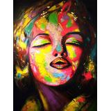 Cuadro Pintura Beso De Marilyn Alto:160cm Ancho:120cm