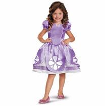 Disfraz Princesa Sofia Disney C Prendedor Y Collar Amuleto