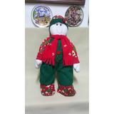 Muñeco De Nieve De Navidad En Tela Gamuza Importado